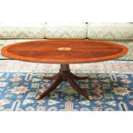 Copley Place Oval Pedestal Coffee Table