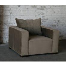 Contemporary Mushroom Velvet Club Chair