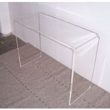 Clear Acrylic Waterfall Console