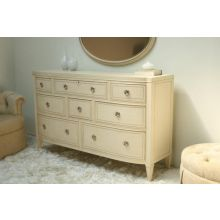 Eight Drawer Cream Dresser