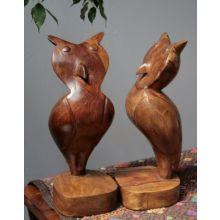 Wise Owl Wood Figure