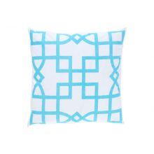 Turquoise Maze Pillow