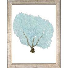 Blue Fan Coral IX 13.5W x 17.5H