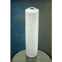 Tall Whitewashed Earthenware Vase