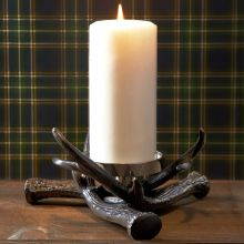 Antler Pillar Candle Holder - Cleared Décor