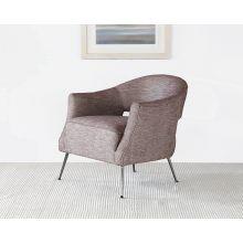 Adara Club Chair in Heathered Aubergine