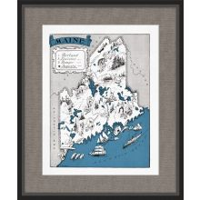 Illustrated Map of Maine 21.5W x 26H