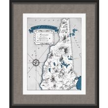 Illustrated Map of New Hampshire 21.5W x 26H