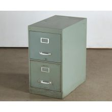 2 Drawer Green Office File Cabinet