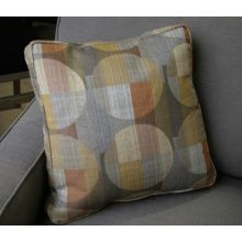 Taupe, Gold, and Orange Pillow