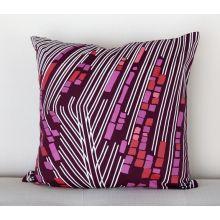 Plum Retro Geometric Pillow