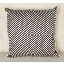 Silver and Gold Diamonds Pillow