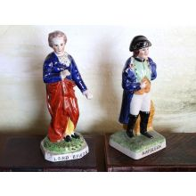 Set of 2 Lord Byron and Napoleon Figurines