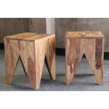 Natural Sheesham Wood Stool