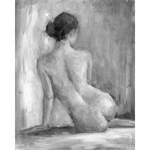 Figure in Black & White I 24W x 30H
