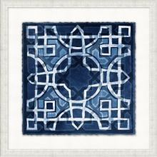 Indigo Stained Glass 3 21.5W x 21.5H
